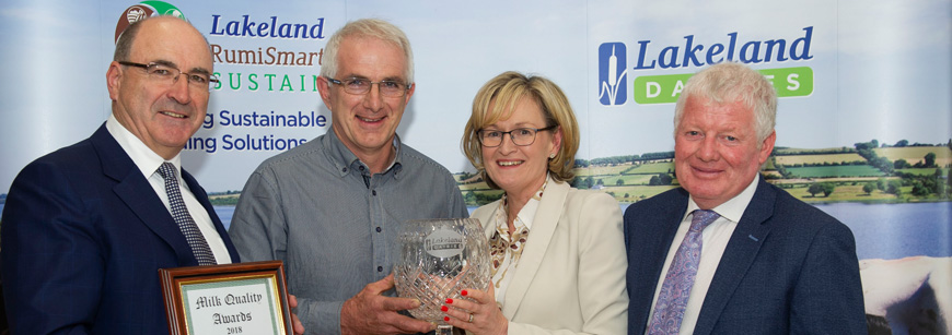 Tyrone Farmer scoops Lakeland Dairies Supreme Milk Quality Award