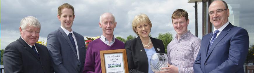 Cavan Dairy Farmer wins Lakeland Dairies Supreme Milk Quality Award